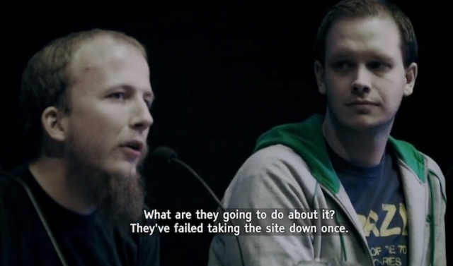 Gottfrid Svartholm and Fredrik Neij on trial in The Pirate Bay Documentary