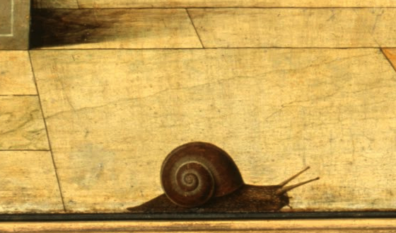 Snail (Detail) in Annunciation by Francesco del Cossa