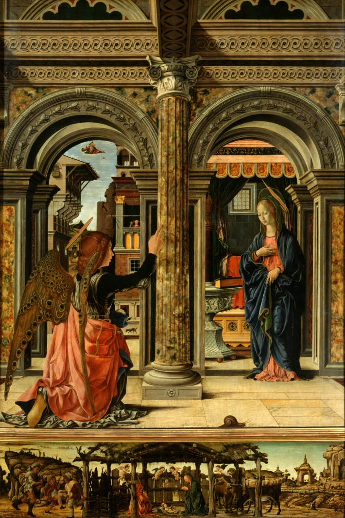 Francesco del Cossa, Annunciation, Gemäldegalerie Alte Meister