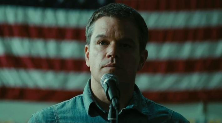 Matt Damon giving the hero speech in Gus Van Sant's promised land