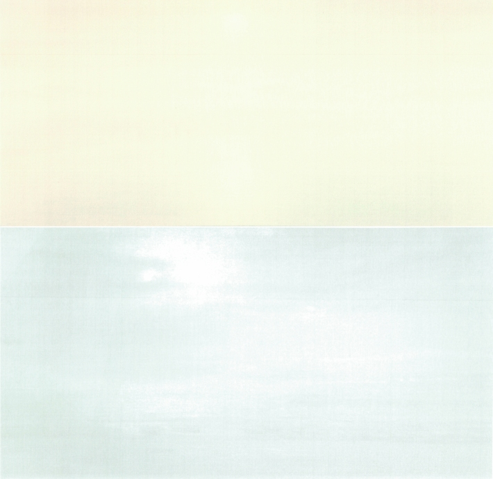Top: Qui Shihua, Untitled 2002 81x174 Bottom: Qui Shihua, Untitled 2006 150x292