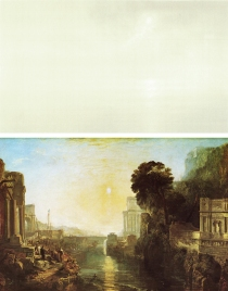 Top: Qui Shihua, Untitled 2005 185x357 Bottom: JMW Turner, Dido Building Carthage, 1815