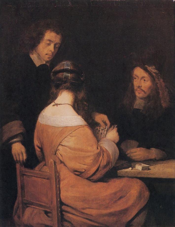 Gerard ter Borch, The Cardplayers, ca. 1650