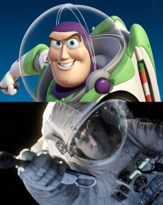 Buzz Lightyear and George Clooney