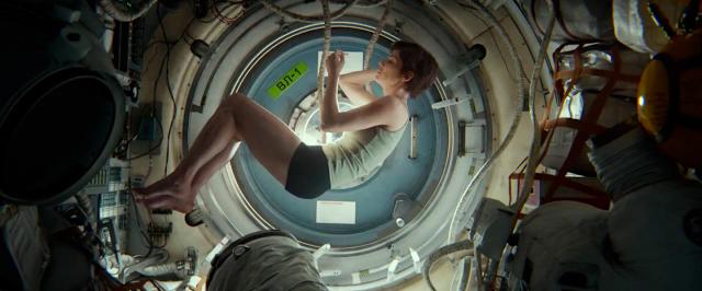 Sandra Bullock as a Fetus in Gravity