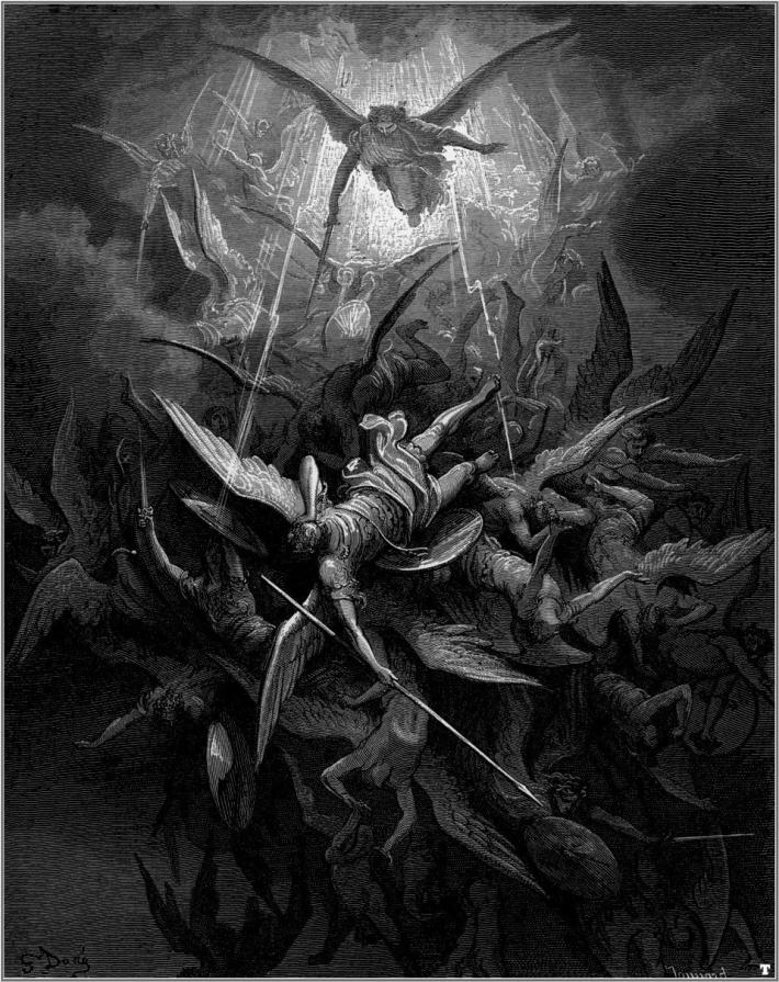 Illustration by Gustave Doré for John Milton's Paradise Lost.
